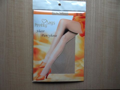 """PRETTY LEGS"" SHEER TIGHTS  SIZE:- MEDIUM/LARGE"